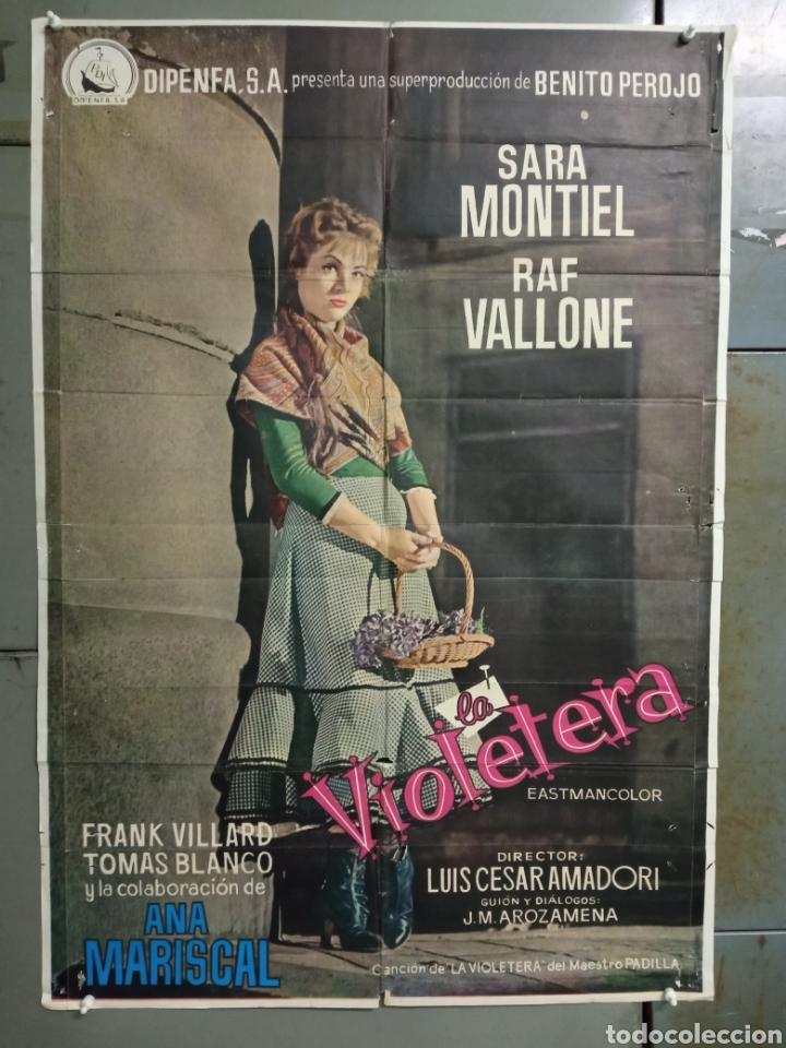 ABG90 LA VIOLETERA SARA MONTIEL POSTER ORIGINAL 70X100 ESTRENO (Cine - Posters y Carteles - Clasico Español)