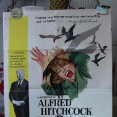 Cine: ORIGINAL SPANISH POSTER THE BIRDS LOS PAJAROS ALFRED HITCHCOCK TIPPI HEDREN 1963. Lote 275162078