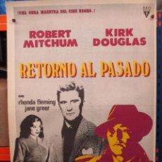 Cine: CARTEL ORIGINAL DE EPOCA - RETORNO AL PASADO - ROBERT MITCHUM - KIRK DOUGLAS - 100 X 70. Lote 275229908