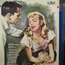 Cine: CARTEL ORIGINAL DE EPOCA - MAS FUERTE QUE LA VIDA - JOANNE WOODWARD - TONY RANDALL - 100 X 70. Lote 275276623