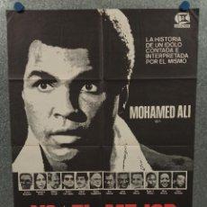 Cine: YO, EL MEJOR. MUHAMMAD ALI. POSTER ORIGINAL. Lote 275281828