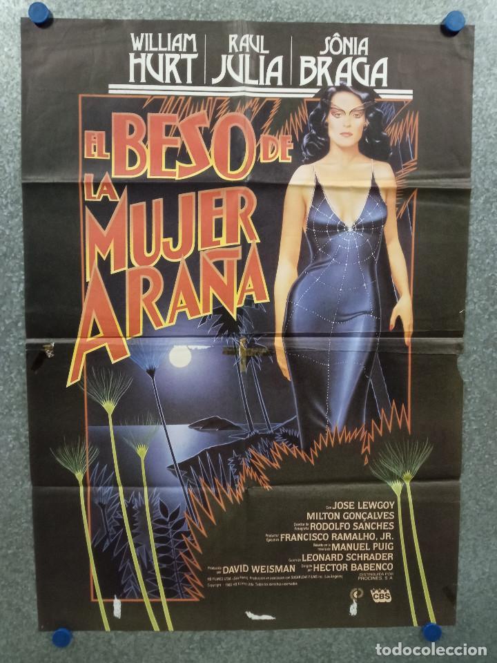 EL BESO DE LA MUJER ARAÑA. WILLIAM HURT, RAUL JULIA, SÔNIA BRAGA. AÑO 1985. POSTER ORIGINAL (Cine - Posters y Carteles - Deportes)
