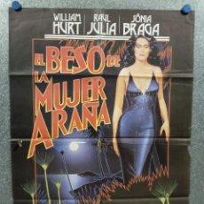 Cine: EL BESO DE LA MUJER ARAÑA. WILLIAM HURT, RAUL JULIA, SÔNIA BRAGA. AÑO 1985. POSTER ORIGINAL. Lote 275282073