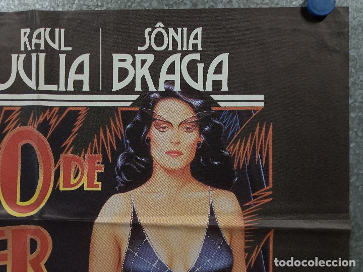 Cine: El beso de la mujer araña. William Hurt, Raul Julia, Sônia Braga. AÑO 1985. POSTER ORIGINAL - Foto 3 - 275282073