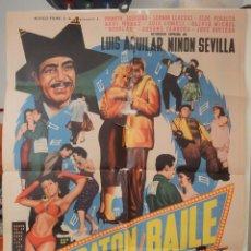 Cine: POSTER ORIGINAL MARATON DE BAILE LUIS AGUILAR NINON SEVILLA. Lote 275292298