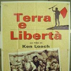 Cine: 3SM39D TIERRA Y LIBERTAD KEN LOACH GUERRA CIVIL ESPAÑOLA POSTER ORIGINAL ITALIANO 140X200. Lote 275607998