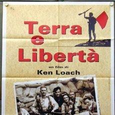 Cine: ET40D TIERRA Y LIBERTAD KEN LOACH GUERRA CIVIL POSTER ORIGINAL 100X140 ITALIANO. Lote 275608118