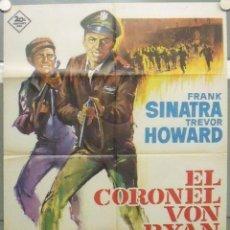 Cine: OK56D EL CORONEL VON RYAN FRANK SINATRA RAFFAELLA CARRA ALBERICIO POSTER ORIGINAL 70X100 ESTRENO. Lote 275609663