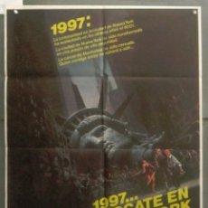 Cine: ZS19D 1997 RESCATE EN NUEVA YORK JOHN CARPENTER KURT RUSSELL POSTER ORIGINAL 70X100 ESTRENO. Lote 275620383