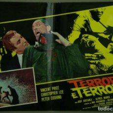 Cine: TW42D LA CARRERA DE LA MUERTE VINCENT PRICE PETER CUSHING CRISTOPHER LEE POSTER ORIG 47X68 ITALIANO. Lote 275621603