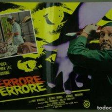 Cine: TW43D LA CARRERA DE LA MUERTE VINCENT PRICE PETER CUSHING CRISTOPHER LEE POSTER ORIG 47X68 ITALIANO. Lote 275621638