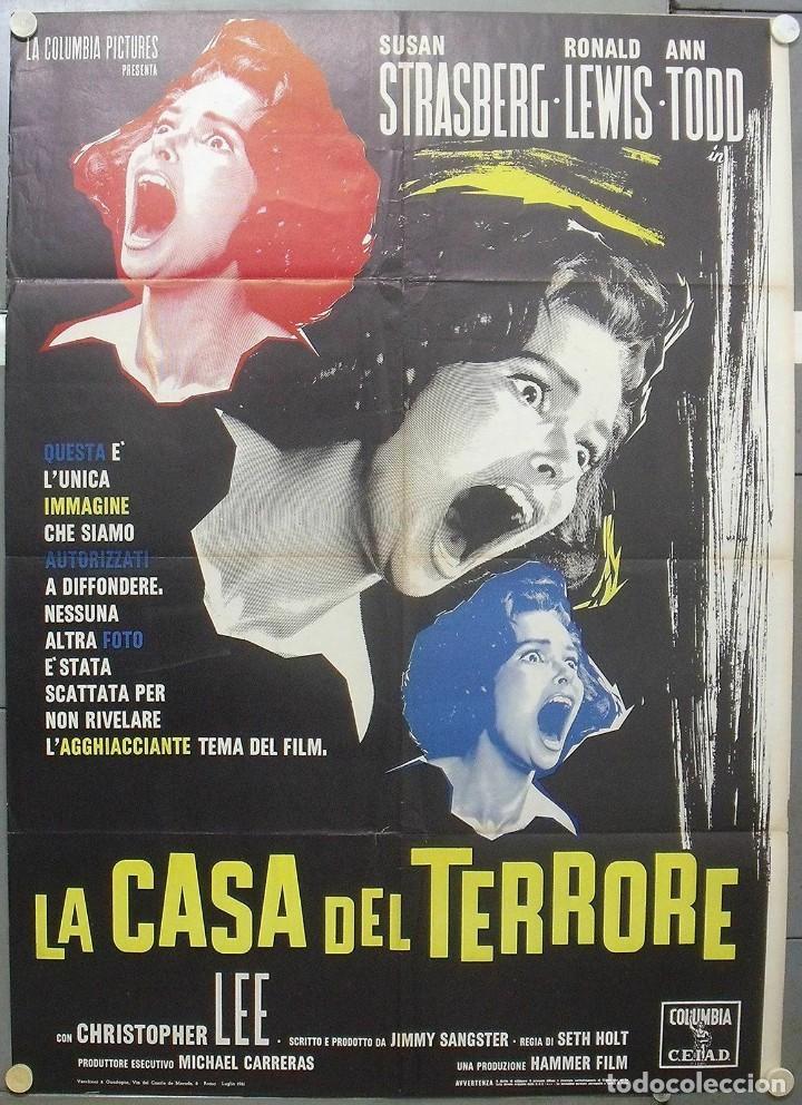 RG89D EL SABOR DEL MIEDO HAMMER JIMMY SANGSTER STRASBERG POSTER ORIGINAL ITALIANO 100X140 (Cine - Posters y Carteles - Terror)