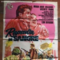 Cinema: CARTEL PÓSTER DE CINE RAPSODIA DE SANGRE. Lote 275641078