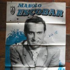Cinema: CARTEL PÓSTER CONCIERTOS MANOLO ESCOBAR 1961. Lote 275642493