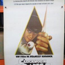 Cine: CARTEL ORIGINAL DE EPOCA - CLOCKWORK ORANGE - LA NARANJA MECANICA - STANLEY KUBRICK - 100 X 70. Lote 275673348