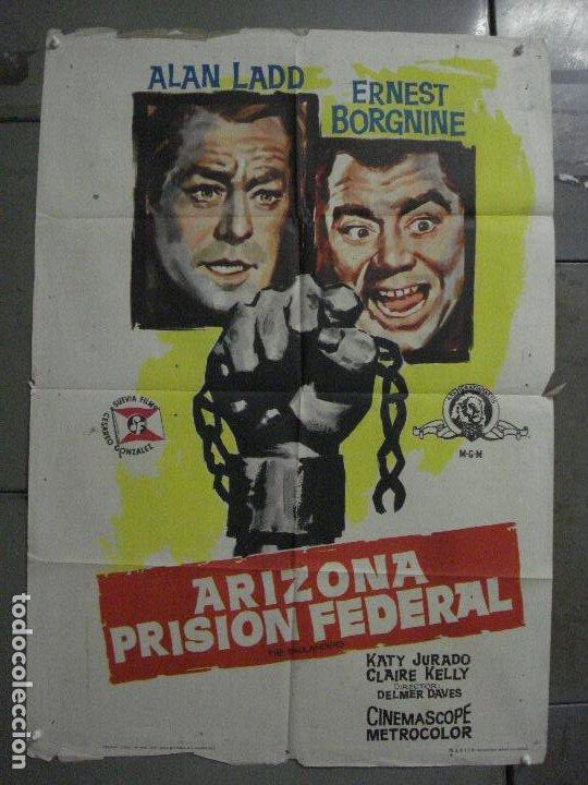 ABH09 ARIZONA PRISION FEDERAL THE BADLANDERS ALAN LADD POSTER ORIGINAL 70X100 ESTRENO (Cine - Posters y Carteles - Westerns)