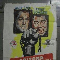 Cine: ABH09 ARIZONA PRISION FEDERAL THE BADLANDERS ALAN LADD POSTER ORIGINAL 70X100 ESTRENO. Lote 275728008