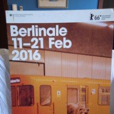Cine: CARTEL BERLINALE 11-21 FEB.2016. 66 INTERNATIONALE FILMFETSPIELE BERLIN.. Lote 276018813