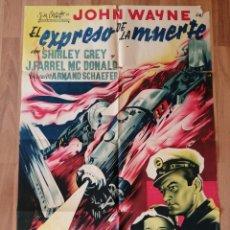 Cine: CARTEL ORIGINAL ESPAÑOL EL EXPRESSO DE LA MUERTE,, JOHN WAYNE, EL DEVASTADOR. Lote 276184648