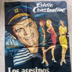 Cine: POSTER DE CINE LOS ASESINOS TAMBIEN TIEMBLAN 1961 CON EDDIE CONSTANTINE. Lote 276211963