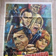 Cine: POSTER DE CINE SUBTERFUGIO 1971 CON GENE BARRY Y JOAN COLLINS. Lote 276215088