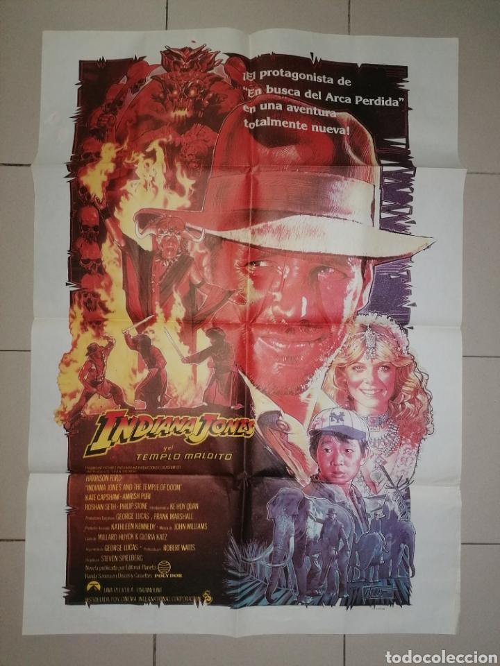 ANTIGUO CARTEL CINE, INDIANA JONES Y EL TEMPLO MALDITO. 1984. 100X70 (Cine - Posters y Carteles - Aventura)