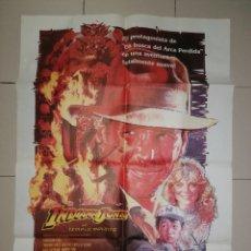 Cine: ANTIGUO CARTEL CINE, INDIANA JONES Y EL TEMPLO MALDITO. 1984. 100X70. Lote 276278618