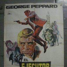 Cine: CDO L675 EL EJECUTOR GEORGE PEPPARD JOAN COLLINS POSTER ORIGINAL 70X100 ESTRENO. Lote 276361113