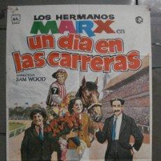 Cine: CDO L679 UN DIA EN LAS CARRERAS HERMANOS MARX POSTER ORIGINAL 70X100 ESPAÑOL R-74. Lote 276368443