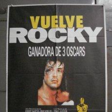 Cine: CDO L689 ROCKY SYLVESTER STALLONE BOXEO POSTER ORIGINAL 70X100 ESPAÑOL R-86. Lote 276383453