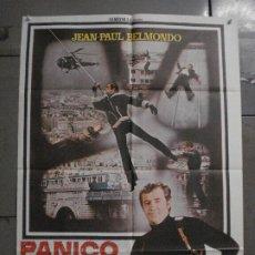 Cine: CDO L693 PANICO EN LA CIUDAD JEAN-PAUL BELMONDO POSTER ORIGINAL 70X100 ESTRENO. Lote 276387953