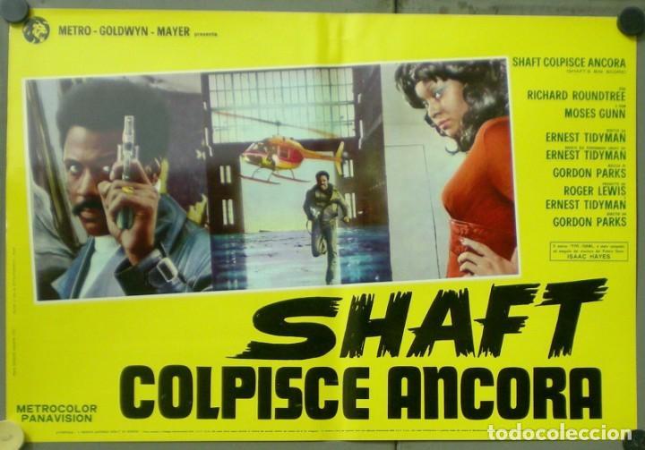 2UW05D SHAFT VUELVE A HARLEM RICHARD ROUNTREE BLAXPLOITATION SET 10 POSTERS ORIG ITALIANOS 47X68 (Cine - Posters y Carteles - Acción)