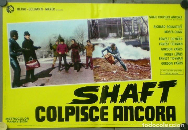 Cine: 2UW05D SHAFT VUELVE A HARLEM RICHARD ROUNTREE BLAXPLOITATION SET 10 POSTERS ORIG ITALIANOS 47X68 - Foto 2 - 276420533