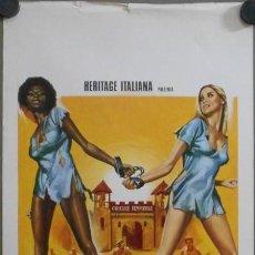 Cine: WP56D BLACK MAMA WHITE MAMA PAM GRIER BLAXPLOITATION POSTER ORIGINAL ITALIANO 33X70. Lote 276424463