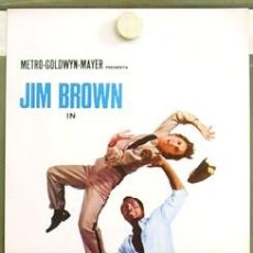 Cine: 2SN89D THE SLAMS JIM BROWN BLAXPLOITATION POSTER ORIGINAL ITALIANO 33X70. Lote 276424518