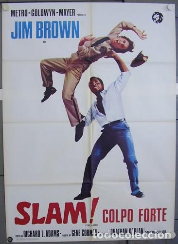 BW19D THE SLAMS JIM BROWN BLAXPLOITATION POSTER ORIGINAL ITALIANO 100X140 (Cine - Posters y Carteles - Acción)