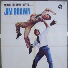 Cine: BW19D THE SLAMS JIM BROWN BLAXPLOITATION POSTER ORIGINAL ITALIANO 100X140. Lote 276424903