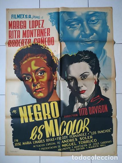 CDOM L755 JOSEP RENAU NEGRO ES MI COLOR MARGA LOPEZ POSTER ORIGINAL MEJICANO 70X94 (Cine- Posters y Carteles - Drama)