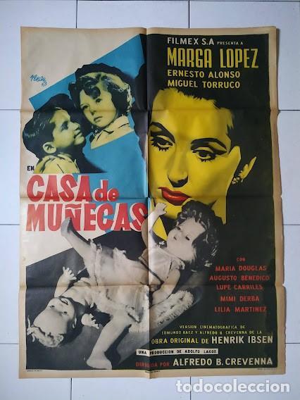 CDOM L756 CASA DE MUÑECAS JOSEP RENAU MARGA LOPEZ POSTER ORIGINAL MEJICANO 70X94 (Cine- Posters y Carteles - Drama)