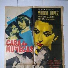 Cine: CDOM L756 CASA DE MUÑECAS JOSEP RENAU MARGA LOPEZ POSTER ORIGINAL MEJICANO 70X94. Lote 276425763