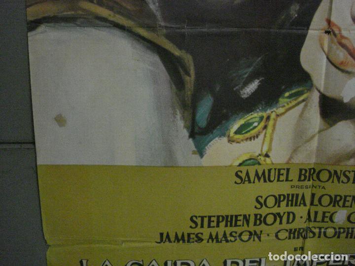 Cine: CDO L702 LA CAIDA DEL IMPERIO ROMANO SOFIA LOREN POSTER ORIGINAL 70X100 DEL ESTRENO - Foto 4 - 276483283
