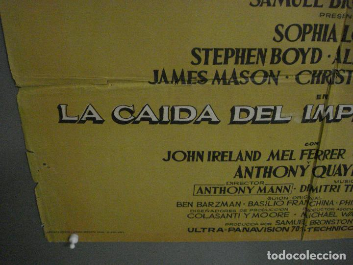 Cine: CDO L702 LA CAIDA DEL IMPERIO ROMANO SOFIA LOREN POSTER ORIGINAL 70X100 DEL ESTRENO - Foto 5 - 276483283
