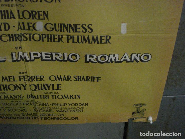 Cine: CDO L702 LA CAIDA DEL IMPERIO ROMANO SOFIA LOREN POSTER ORIGINAL 70X100 DEL ESTRENO - Foto 9 - 276483283