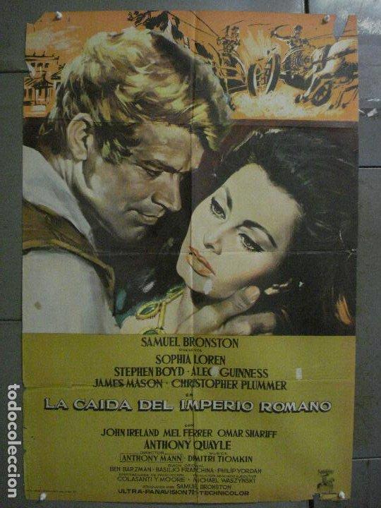 CDO L702 LA CAIDA DEL IMPERIO ROMANO SOFIA LOREN POSTER ORIGINAL 70X100 DEL ESTRENO (Cine - Posters y Carteles - Aventura)