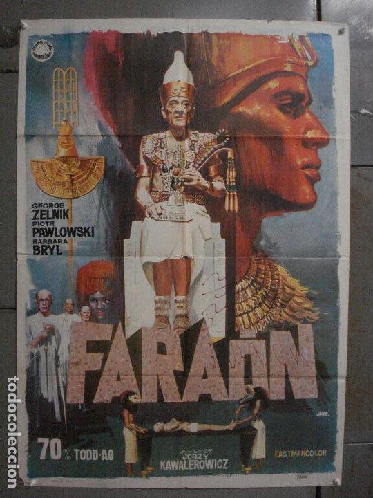 CDO L703 FARAON JERRY KAWALEROWICZ CINE POLACO TODD-AO JANO POSTER ORIGINAL 70X100 ESTRENO (Cine- Posters y Carteles - Drama)