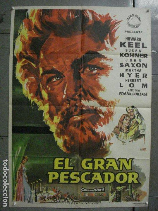 CDO L705 EL GRAN PESCADOR HOWARD KEEL WALT DISNEY POSTER ORIGINAL 70X100 ESTRENO (Cine- Posters y Carteles - Drama)