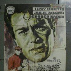 Cine: CDO L706 ATRACO SIN HUELLAS TONY CURTIS GEORGE NADER JULIE ADAMS JANO POSTER ORIGINAL 70X100 ESTRENO. Lote 276488098
