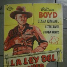 Cine: CDO L707 LA LEY DEL REVOLVER WILLIAM BOYD GEORGE HAYES POSTER ORIGINAL 70X100 ESTRENO LITOGRAFIA. Lote 276490548