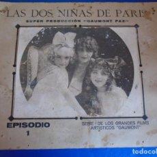 Cine: (CINE-662)CARTEL ORIGINAL LAS DOS NIÑAS DE PARIS (LES DEUX GAMINES) - GAUMONT, 1921. Lote 276519918