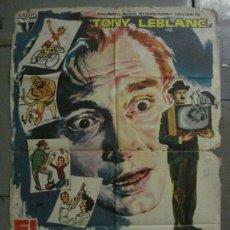 Cine: CDO L717 EL POBRE GARCIA TONY LEBLANC LINA MORGAN JANO POSTER ORIGINAL 70X100 ESTRENO. Lote 276521118